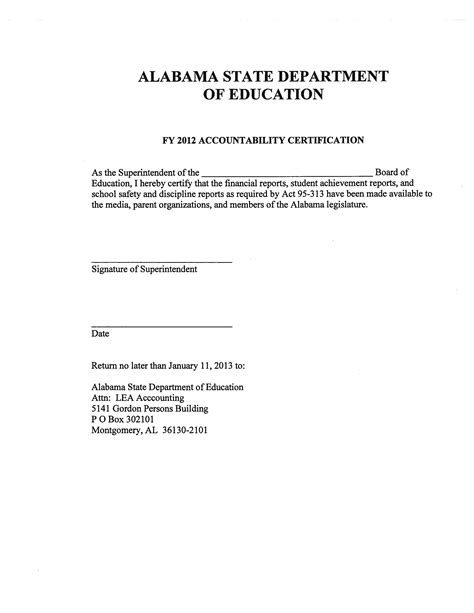 Award Letter Ready To Certify Alabama School Connection 187 School Achievement Discipline And Financial Reports Are Ready