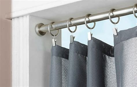 long shower curtain rod extra long metal curtain rods soozone