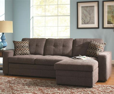small spaces microfiber chocolate small sectional sofa