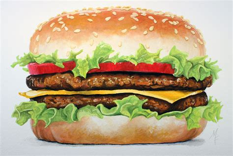 Brown Paint Colors Realistic Painting Tutorial Hamburger