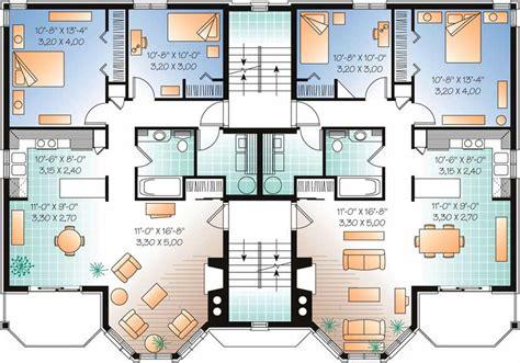 Multi Level House Plans by Multi Family Plan 126 1325 2 Bedroom 7624 Sq Ft