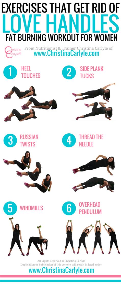 workouts to get rid of lower belly and handles
