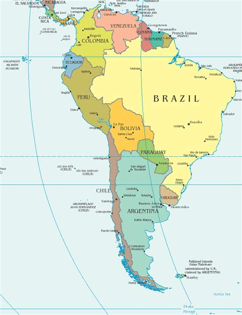 south america map with states and capitals south america map quiz capitals