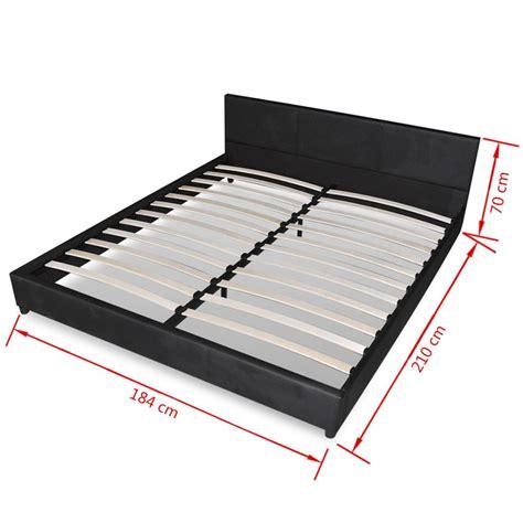 bett schwarz 180x200 kunstleder bett schwarz 180 x 200 cm mit matratze g 252 nstig