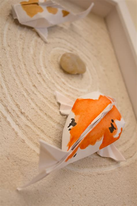 How To Make Koi Fish Origami - origami koi fish design by sipho mabona the peep house