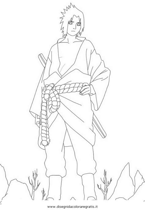 Disegno naruto_sasuke_08: personaggio cartone animato da