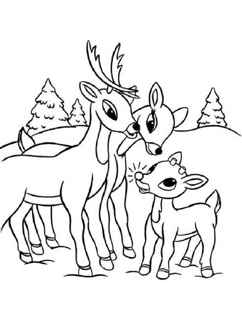 coloring pages of christmas reindeer free printable reindeer coloring pages for kids