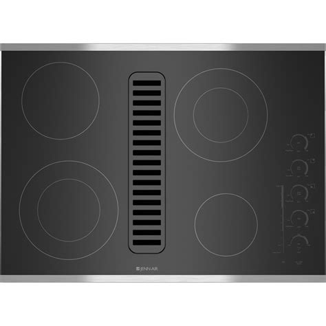 Electric Radiant Downdraft Cooktop with Electronic Touch