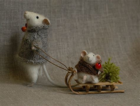 Images Of Christmas Mice | stuffed animals by natasha fadeeva christmas mice