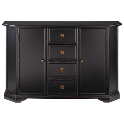 Home Decorators Buffet by Home Decorators Collection Caley Antique Black Buffet