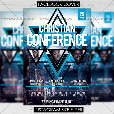 christian conference premium a5 flyer template
