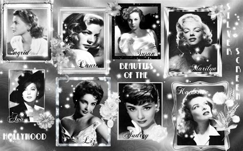 classic hollywood wallpaper beauties of hollywood vintage photo collage popopics com