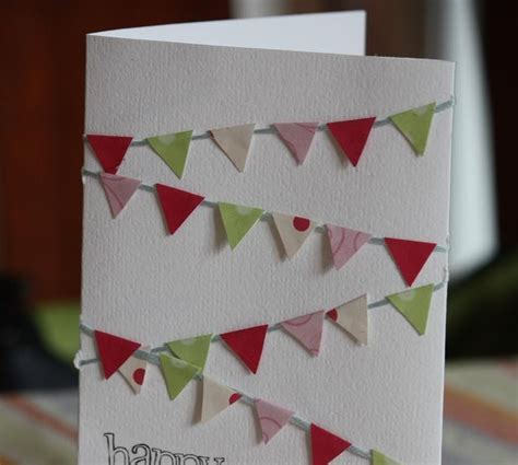 mini bunting for card snickerdoodle creations mini bunting flag card