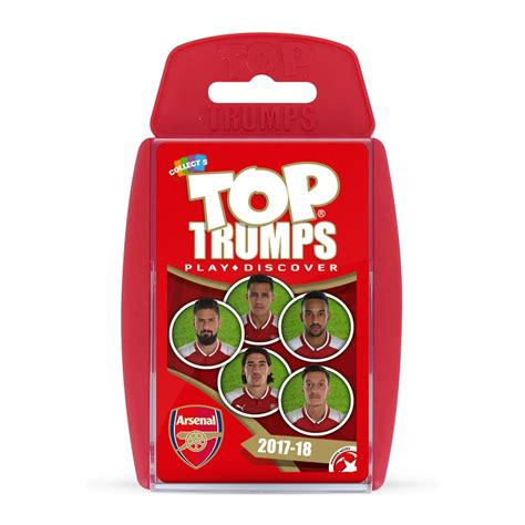 arsenal quiz 2017 18 arsenal fc 2017 18 top trumps card game