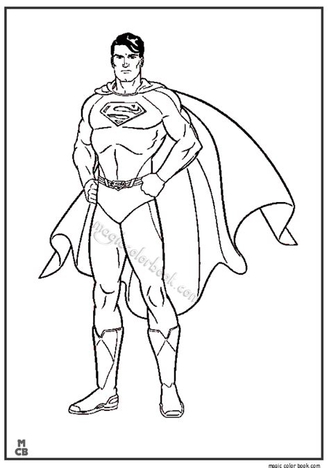 superman free colouring pages