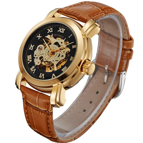 Ouyawei Skeleton Leather Automatic Mechanical Oyw1328 Wh ouyawei skeleton leather automatic mechanical