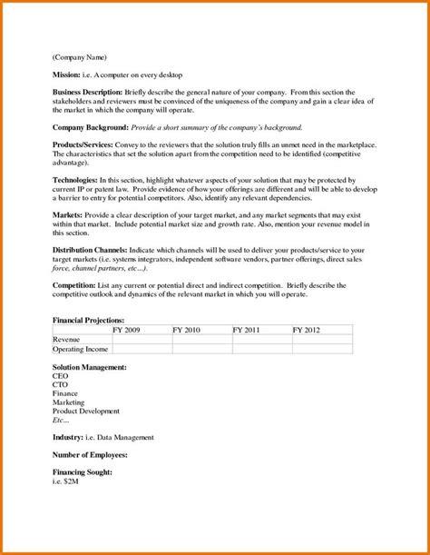 executive summary template download free premium