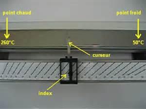 4 mesurer une temperature de fusion avec le banc kofler
