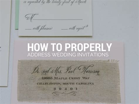 Wedding Invitations How To by How To Properly Address Wedding Invitations Gangcraft