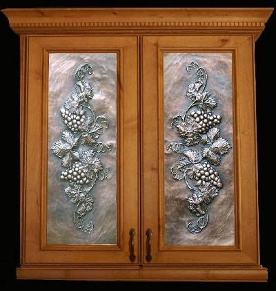 cabinet inserts kitchen art metal panels from artful inserts the cabinet door panels