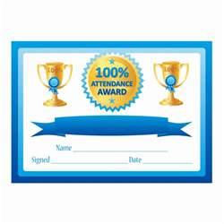 100 attendance certificate template blue 100 attendance certificates for teachers