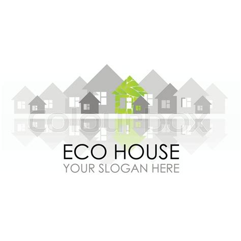 house construction company eco house logo design ecological construction eco