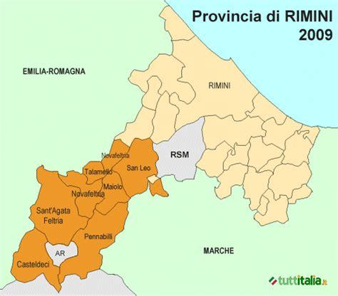 delle marche rimini la provincia di rimini ha sette comuni in pi 249