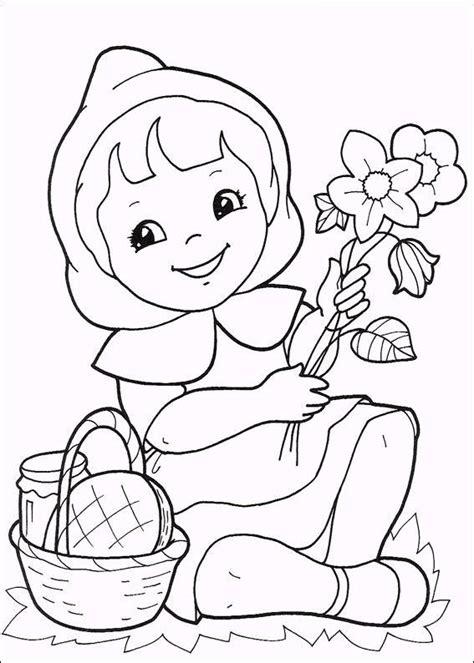 caperucita roja dibujos animados en dibujos animados para colorear dibujos para colorear de