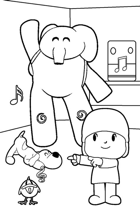 pocoyo p 225 ginas para colorear best coloring pages for kids