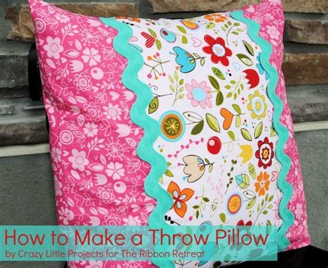 How To Sew A Decorative Pillow by How To Make A Throw Pillow The Ribbon Retreat