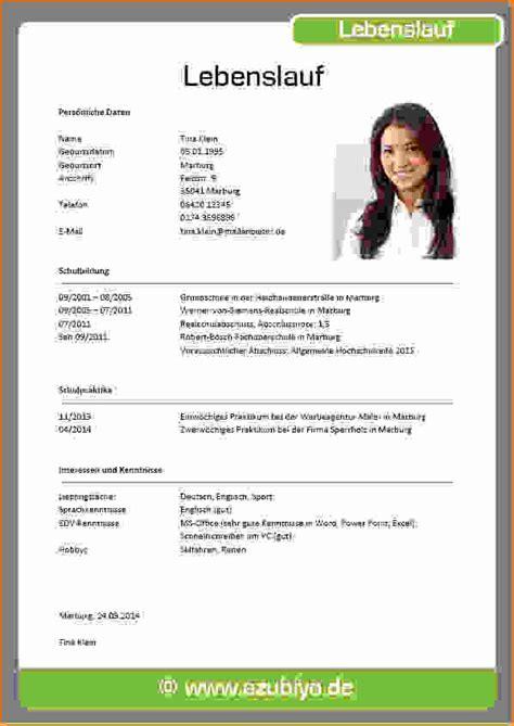 Lebenslauf Muster F R Sch Ler Word Handgeschriebener Lebenslauf Vorlage Free Vorlagen