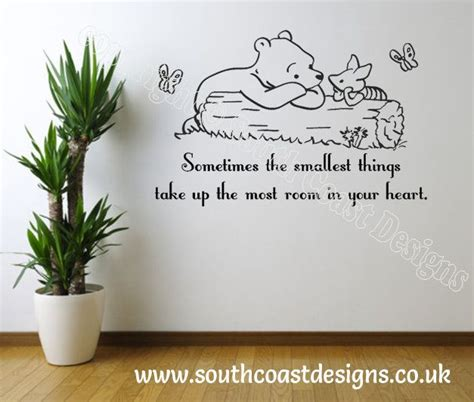 winnie the pooh quotes wall stickers disney winnie the pooh sometimes the smallest things