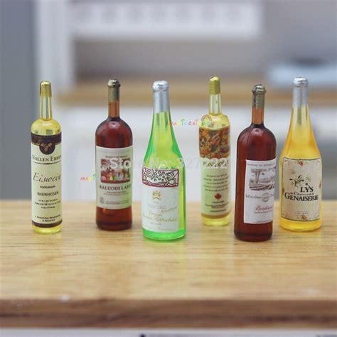 Miniature Bottle 6 x mini drinks bottle juice chagne wine bottles dollhouse miniature 1 12 in kitchen