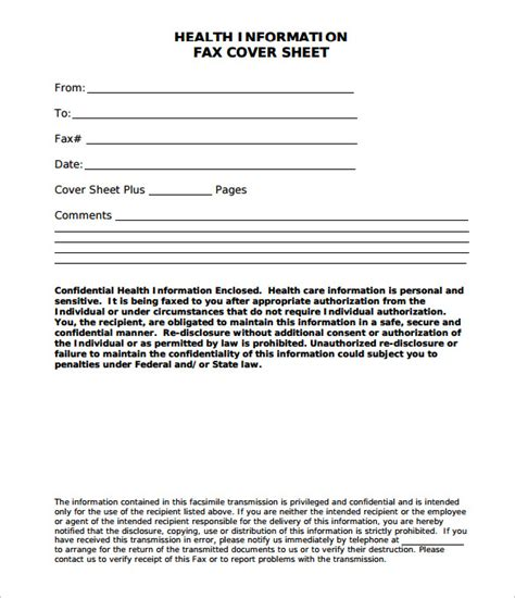 Free Printable Medical Fax Cover Sheet | medical fax cover sheet 10 free word pdf documents