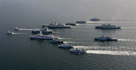 nato naval group sails  formation   baltic sea