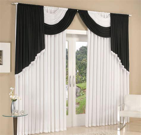 cortinas de poliester cortina 2 metros cortina colonial branco preto 1