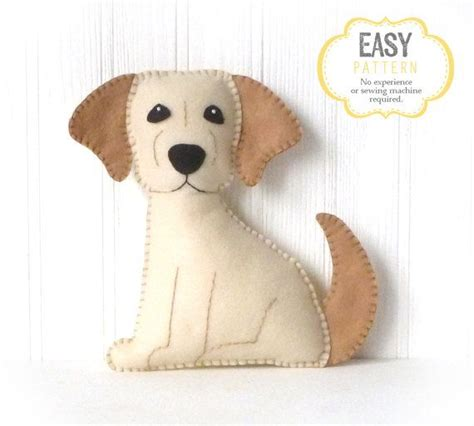 dog sewing pattern golden lab hand sewing pattern felt