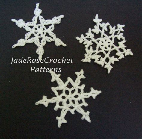 snowflake earring pattern items similar to crochet snowflakes pattern three