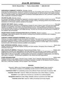 hospital volunteer resume exle