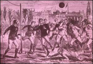 History of football and the rules of the game history in the