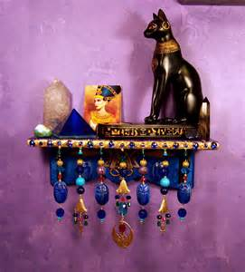 wiccan home decor egyptian wall altar ooak pagan decor