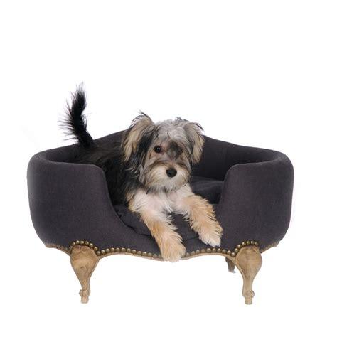 gray dog bed antoinette luxury dog bed in fusli grey dog beds