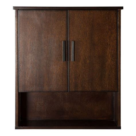 dark walnut bathroom cabinet home decorators collection castlethorpe 25 in w x 28 in