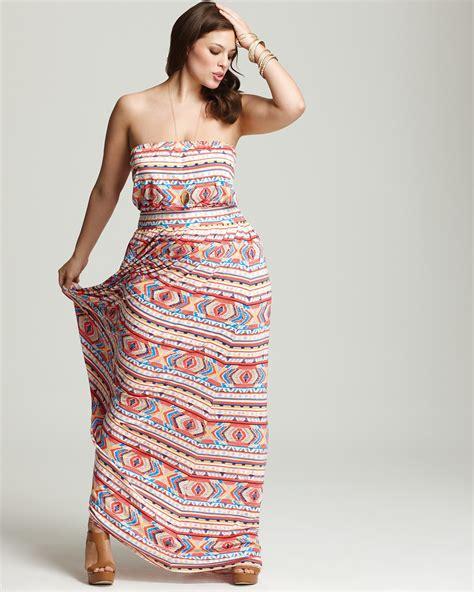 Sale Fashion Wanita Dress Maxi Michael pally white label plus size talmadge strapless maxi