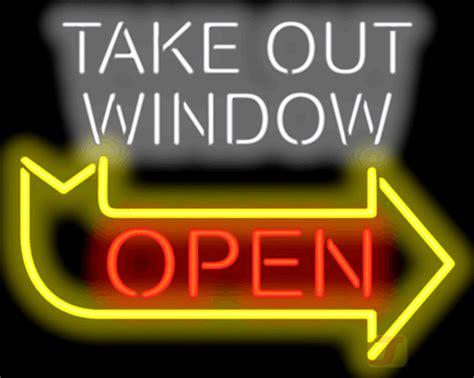 window open neon sign fg   jantec neon