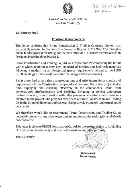 Award Letter Issued By Embassies Overseas Primevn
