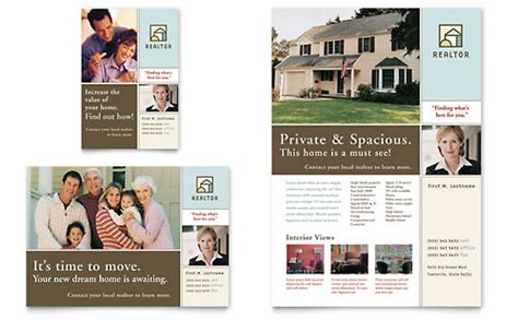 house brochure template real estate flyer templates designs
