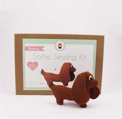 puppy kit make your own sausage sewing kit by hurley notonthehighstreet