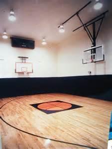 basement basketball court construction