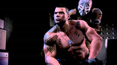 mass effect 3 james vega getting tattoo youtube